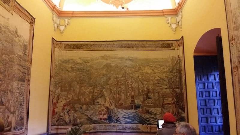 Tapiz flamenco del Palacio de Carlos I