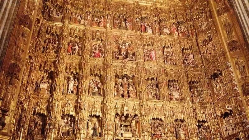 scenes of Christ's life in the Cathedral of Seville