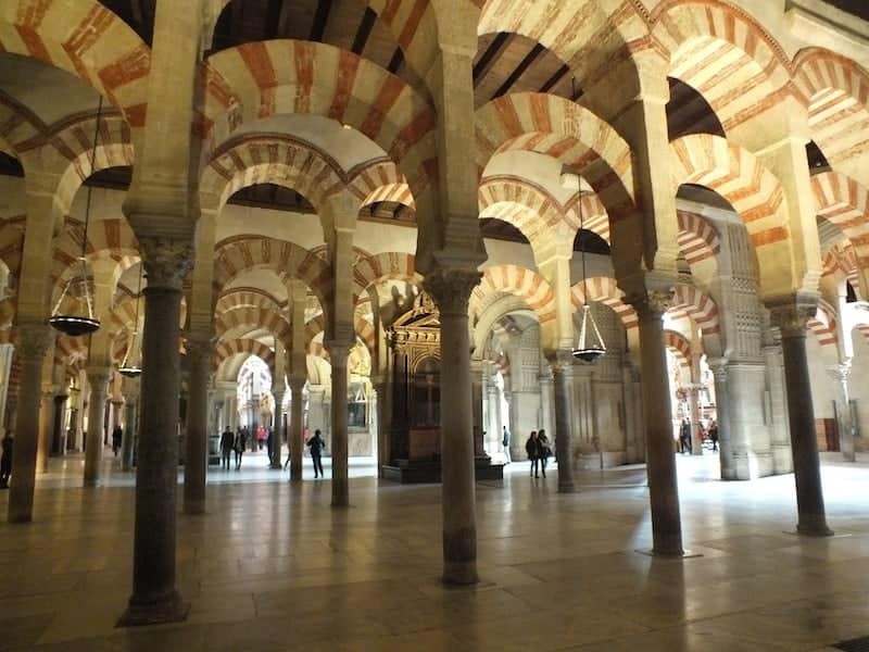 Arcs of the Mosque Cathedral in Cordoba