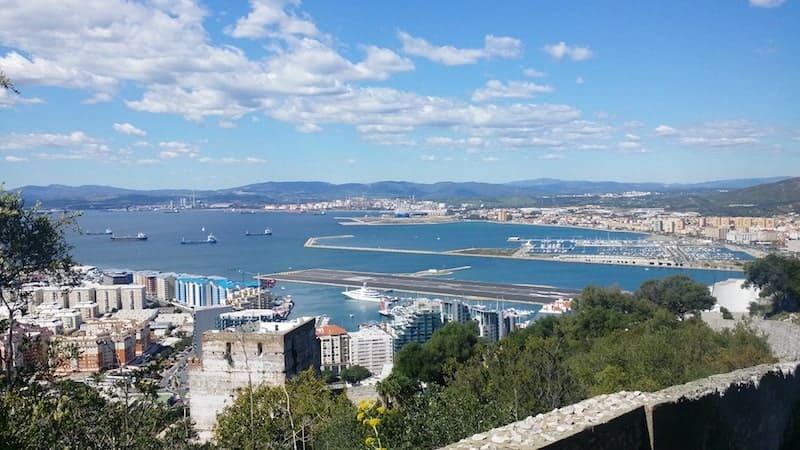 Coast of Algecitas and the port